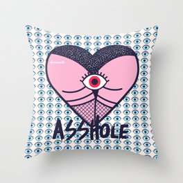 Asshole (Part II) Throw Pillow