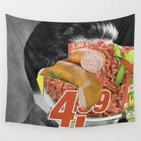 meat Wall Tapestries featuring Meat historical assholes 3 by Marko Köppe