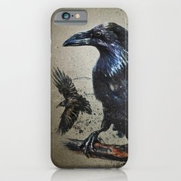 Raven background iPhone Case