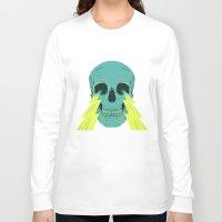lightning Long Sleeve T-shirts featuring Lightning Skull by Eyes Wide Awake
