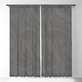 Pantone Pewter Gray Abstract Fluid Art Swirl Pattern Blackout Curtain
