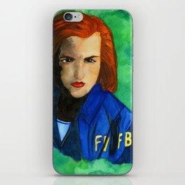 Agent Scully FBI iPhone Skin