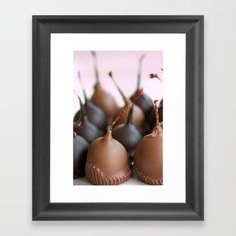 Chocolate Covered Cherries Framed Art Print