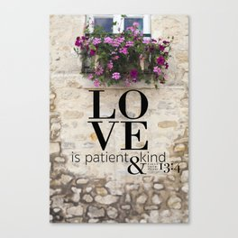 True Love  //  I Corinthians 13:4 Canvas Print
