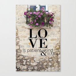 True Love  //  I Corinthians 13:4 Canvas Print