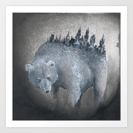 The Bear Who Couldn't Bear Art Print