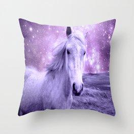 Lavender Horse Celestial Dreams Throw Pillow