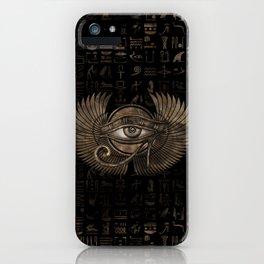 Egyptian Eye of Horus - Wadjet Vintage Gold iPhone Case