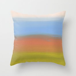 Abstracted Landscape Throw Pillow
