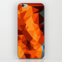 green blue brown orange and yellow abstract background iPhone Skin