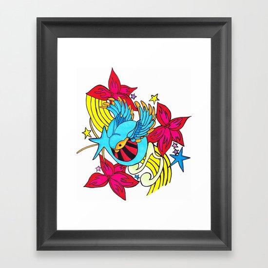 The Musical Swallow Framed Art Print