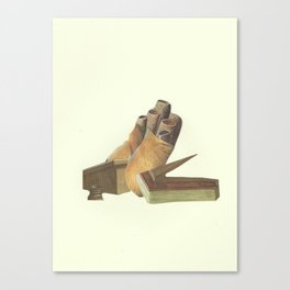 Came whiffling through the tulgey wood Canvas Print