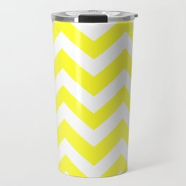 Yellow (RYB) - yellow color - Zigzag Chevron Pattern Travel Mug