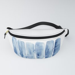 Blue Lines | Watercolor Painting Fanny Pack