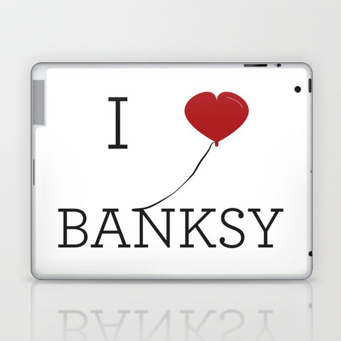 I heart Banksy Laptop & iPad Skin