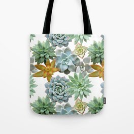 Succulent Pattern - Organic Botanics -  Nature Lover Succulent Mix for the Plant Lover Tote Bag