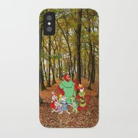 robin hood iPhone & iPod Cases featuring Robin Hood and the Gang by foreverwars