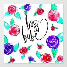 Boss babe Canvas Print