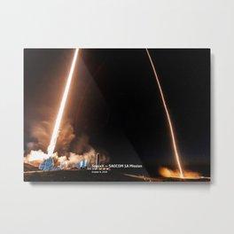 SpaceX — SAOCOM 1A Mission Metal Print