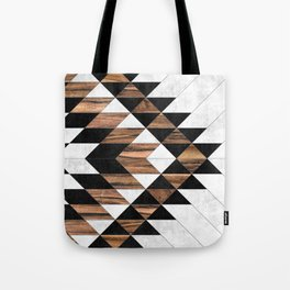 Urban Tribal Pattern No.9 - Aztec - Concrete and Wood Tote Bag