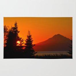 Orange Sky - Mt. Redoubt Rug