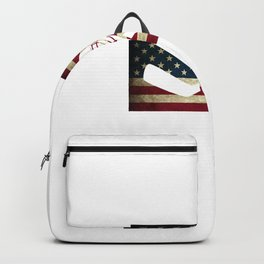 American Flag Hockey Goalie USA Ice Hockey Backpack