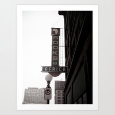 The City She Loves Me Art Print