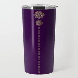 Violet & Gold Mandala Medallions Travel Mug