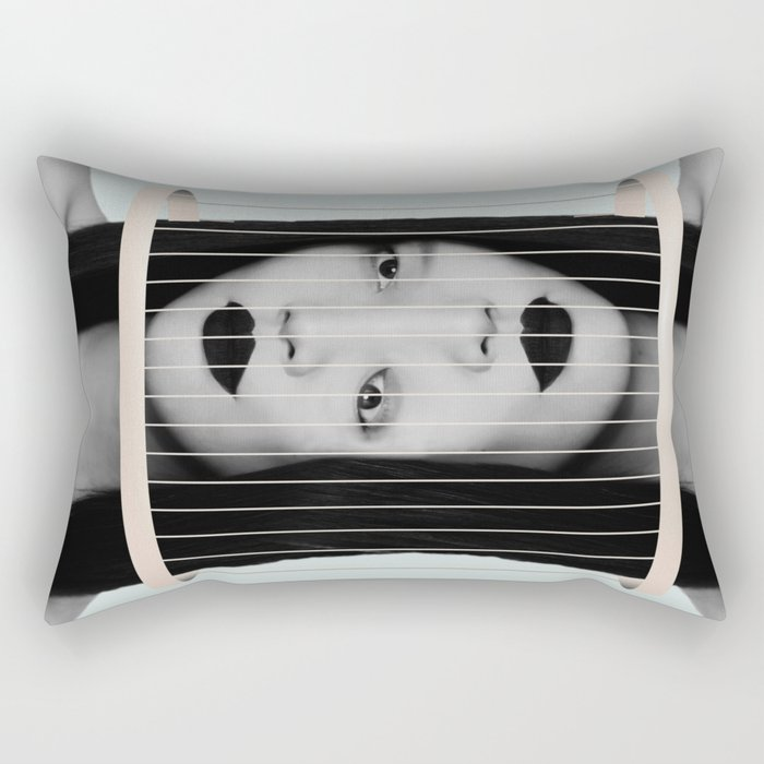 trapped in myself Rectangular Pillow