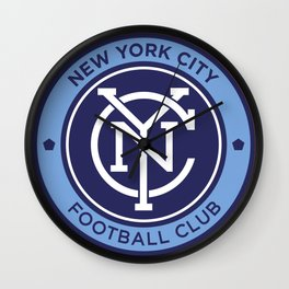 NEW YORK CITY FC Logo Wall Clock