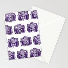 I Still Shoot Film Holga Logo - Deep Purple Stationery Cards