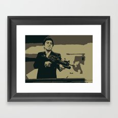 Scarface 3 Colour Print Framed Art Print