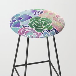 Masked Flora Collection Succulents Bar Stool