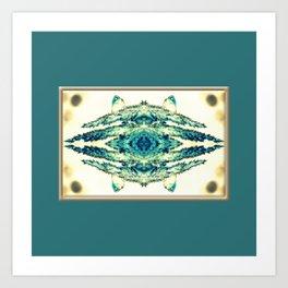 blue grass mosaic Art Print