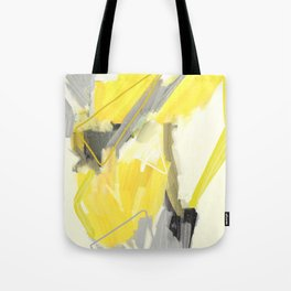 Abstract Yellow Painting - Minimalist Art Print - Home Decor Tote Bag