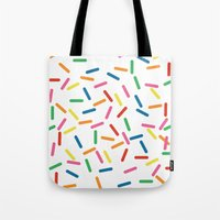 sprinkles Tote Bags featuring Sprinkles by Gold Collective