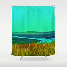 River Alt (Digital Art) Shower Curtain
