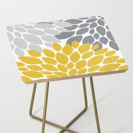petals grey and yellow Side Table