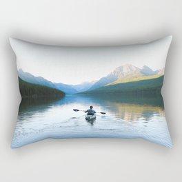 Kayaking on Bowman Lake Rectangular Pillow