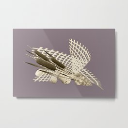 the reeds in the grid Metal Print