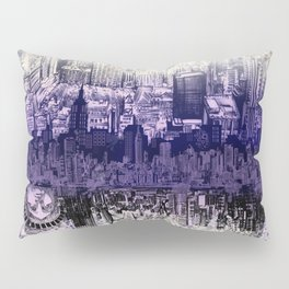 New York skyline drawing collage 2 Pillow Sham