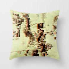 Illustration Mashup Throw Pillow