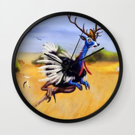 ostrich deer Wall Clock