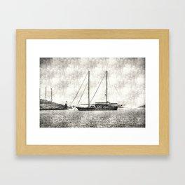 Vintage Schooner Framed Art Print