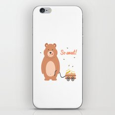 Lovely Mama Bear With Honey iPhone & iPod Skin