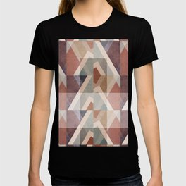 Textured Geometric Abstract T-shirt