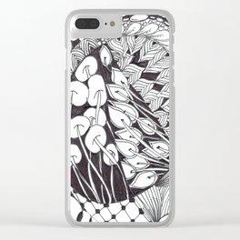 Zen Doodle Graphics zz13 Clear iPhone Case