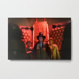 Doctor Who in Trouble! Metal Print