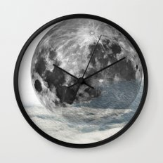 Low Moon Wall Clock