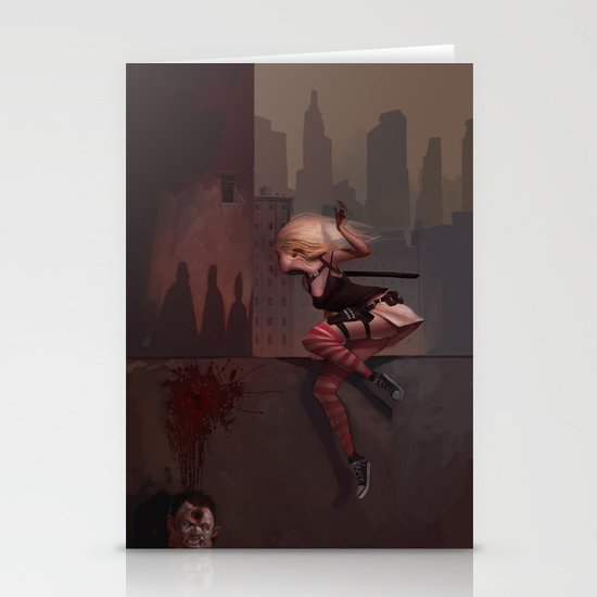 Bambi the Zombie Slayer Stationery Cards